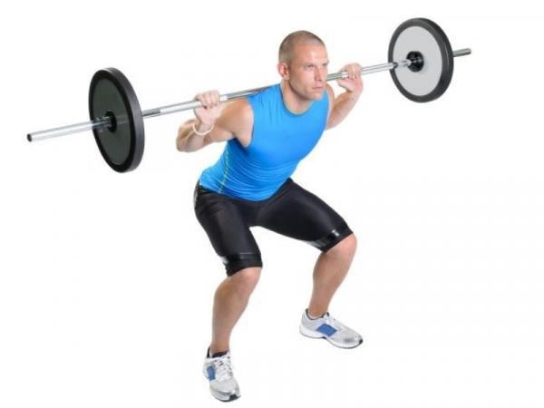10 ejercicios de glúteos para hombres - Barbell Squat