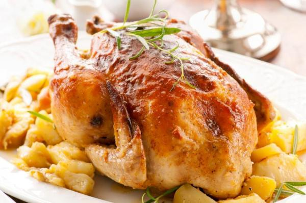 Receta de pollo relleno de Navidad - Paso 8