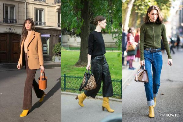 Cómo usar zapatos amarillos - Outfits zapatos amarillos - Cómo usar botas amarillas