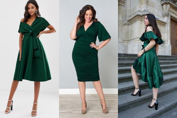 Qué llevar con un vestido verde - Zapatos para una ocasión formal