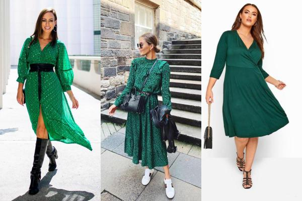 Que llevar con un vestido verde - Zapatos para un outfit casual