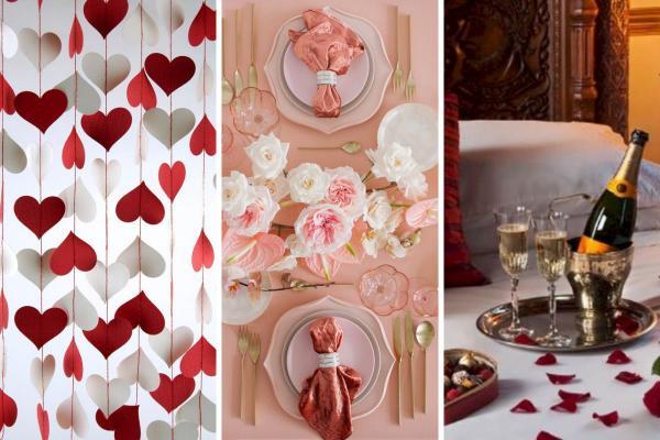 Cómo celebrar el día de San Valentín en casa - Ideas románticas para citas - Decoración del hogar para el día de San Valentín