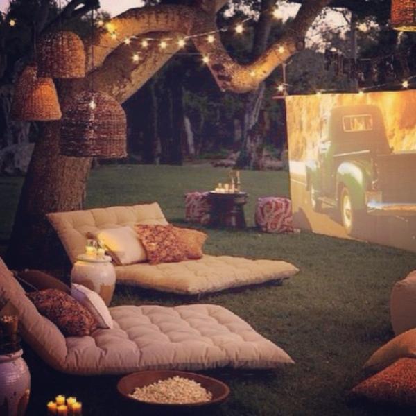 Cómo organizar una noche de cine en casa - cómo organizar una noche de cine al aire libre