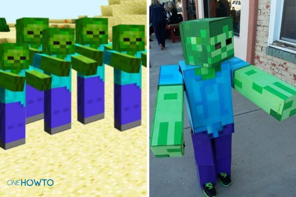 Cómo hacer un disfraz de Minecraft: ¡Steve, Creeper y más! - Disfraz de zombie de Minecraft