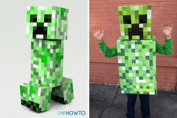 Cómo hacer un disfraz de Minecraft: ¡Steve, Creeper y más! - Disfraz de Creeper de Minecraft