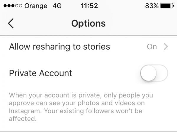 Cómo saber si alguien está desactivando su cuenta de Instagram - cuentas públicas y privadas de Instagram