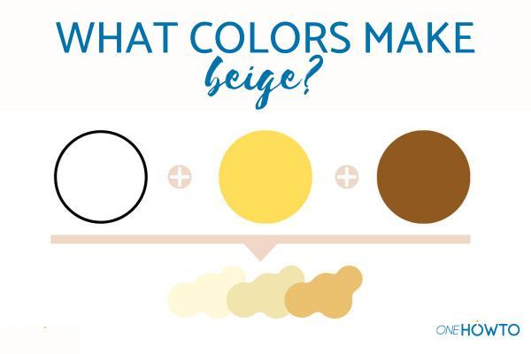 Cómo mezclar colores de pintura para hacer beige