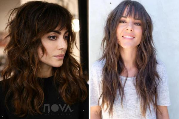 Ideas de corte de pelo para cabello largo y ondulado - Corte de pelo largo y peludo