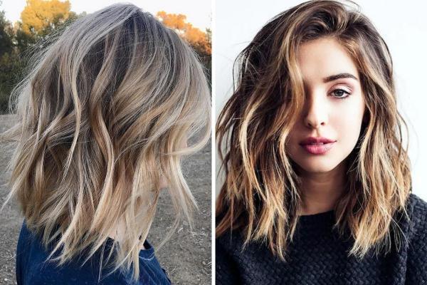 Ideas de corte de pelo para cabello largo y ondulado - Lob en capas