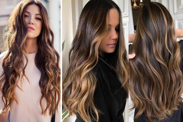 Ideas de corte de pelo para cabello largo y ondulado: corte de pelo ondulado con puntas rectas