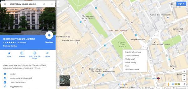 Cómo ver las coordenadas en Google Maps - Paso 2