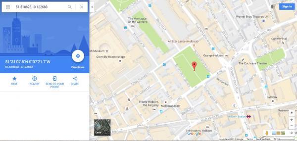Cómo ver las coordenadas en Google Maps - Paso 4