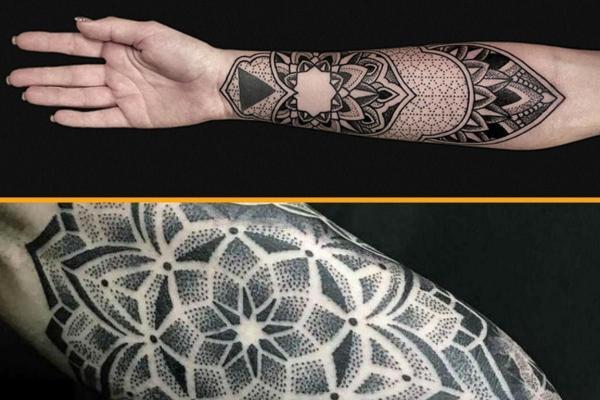 Estilos y diseños de tatuajes - Con fotos - Puntillismo
