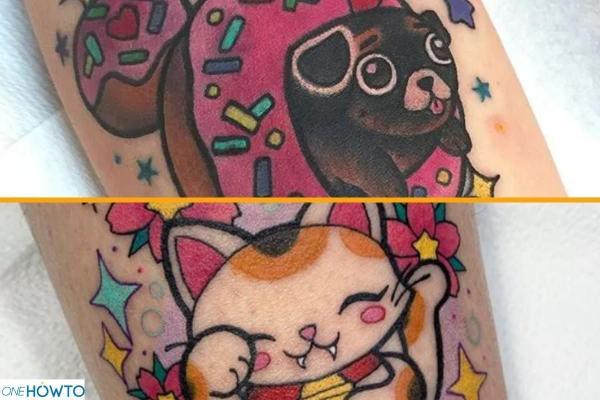 Estilos y diseños de tatuajes - con imágenes - tatuaje kawaii