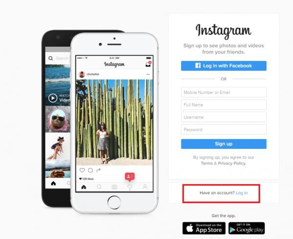 Cómo eliminar mi cuenta de Instagram de forma permanente - Inicie sesión en su cuenta de Instagram