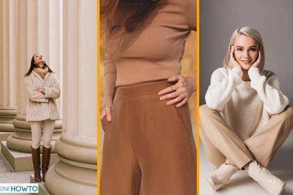 Cómo combinar pantalones beige - Pantalones beige oscuro