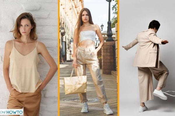 Cómo combinar pantalones beiges