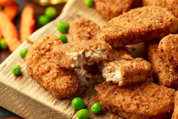 Cómo hacer nuggets de pollo veganos