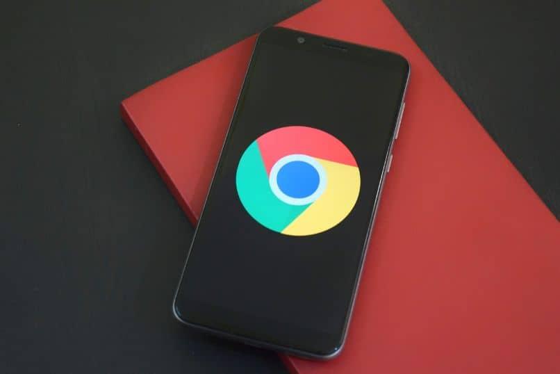 teléfono con navegador google chrome