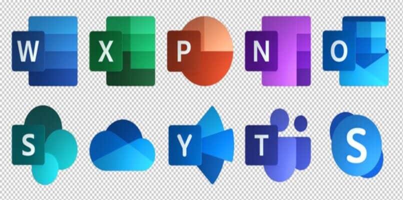logotipos de aplicaciones disponibles