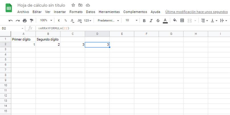 cómo aplicar una fórmula de matriz en una columna