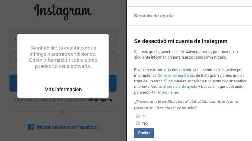consecuencias de la prohibición en instagram