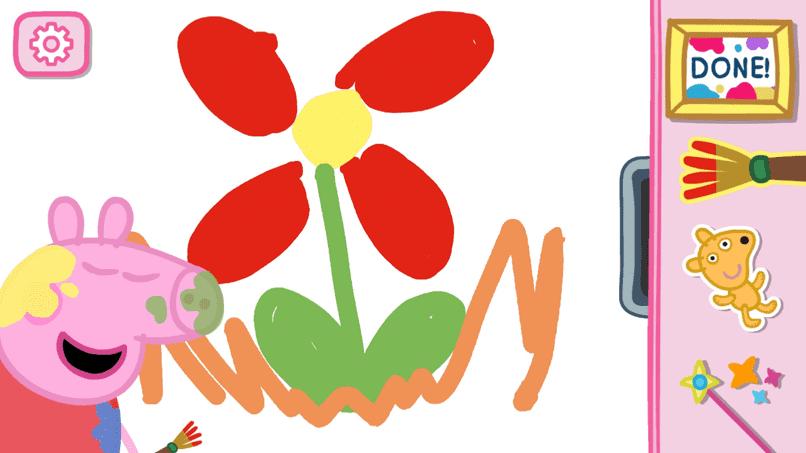 dibujar un mandala con pintura pepapig