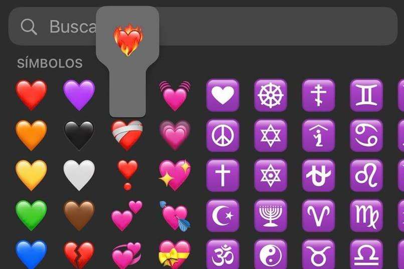 corazón en llamas emoji en iphone