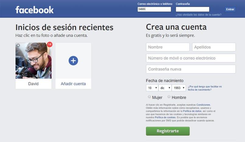 sitio oficial de facebook