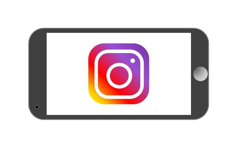 logotipo de instagram del teléfono