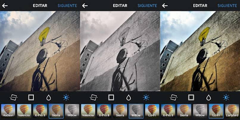 edición de fotos con filtros
