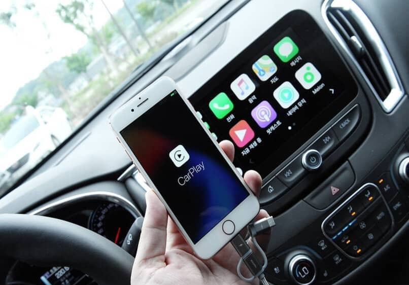 conexión móvil y de coche para android auto