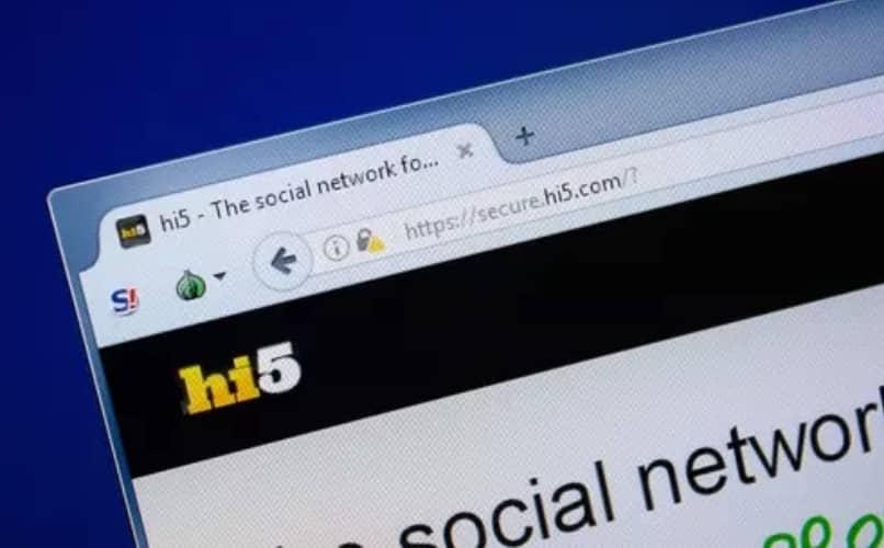 Sitio web de Hi5
