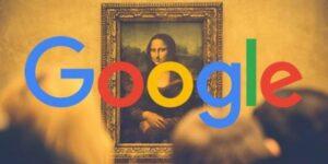 logo de google con fondo artístico