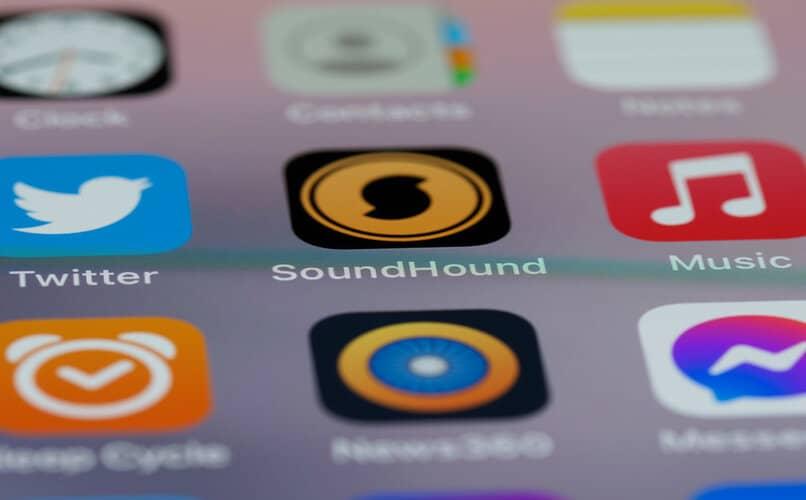 aplicación soundhound en un teléfono Android