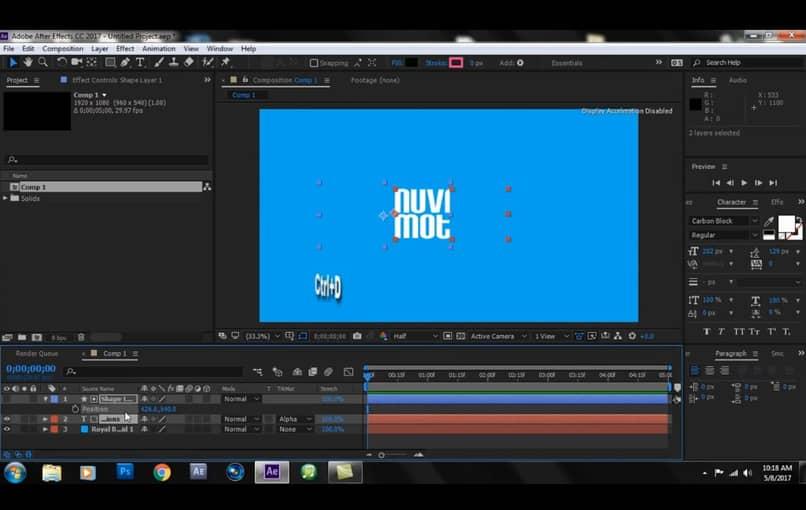 animar títulos en After Effects