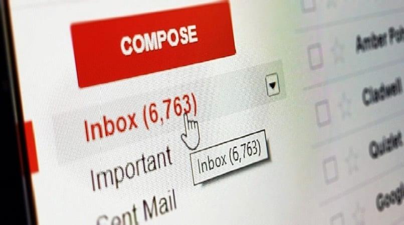 imagen de la bandeja de entrada de gmail