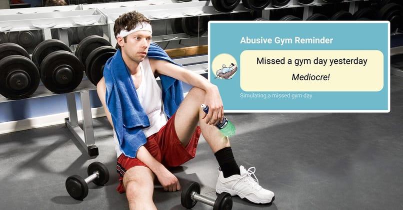 retiro de gimnasio de aplicación incorrecta
