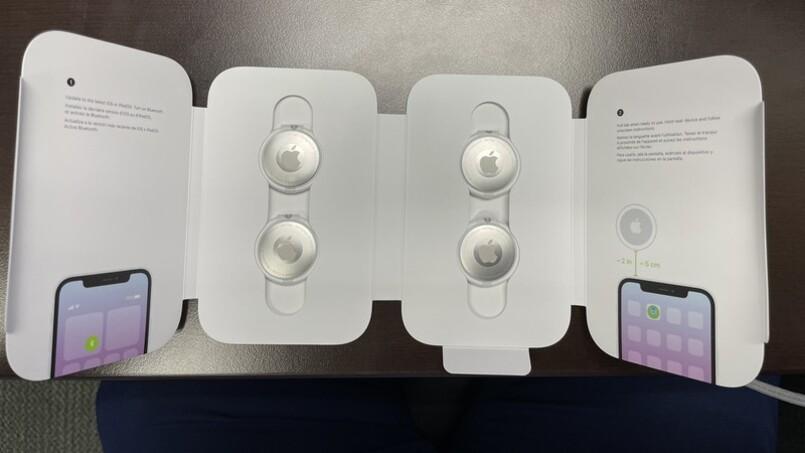 unbox apple airtag dispositivo