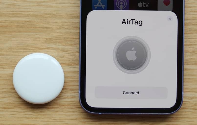 uso de la aplicación del dispositivo airtag