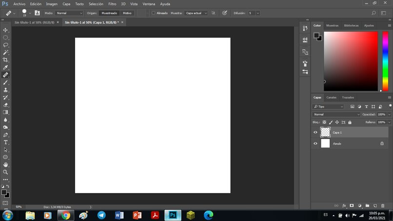 Photoshop comienza en la versión 2018