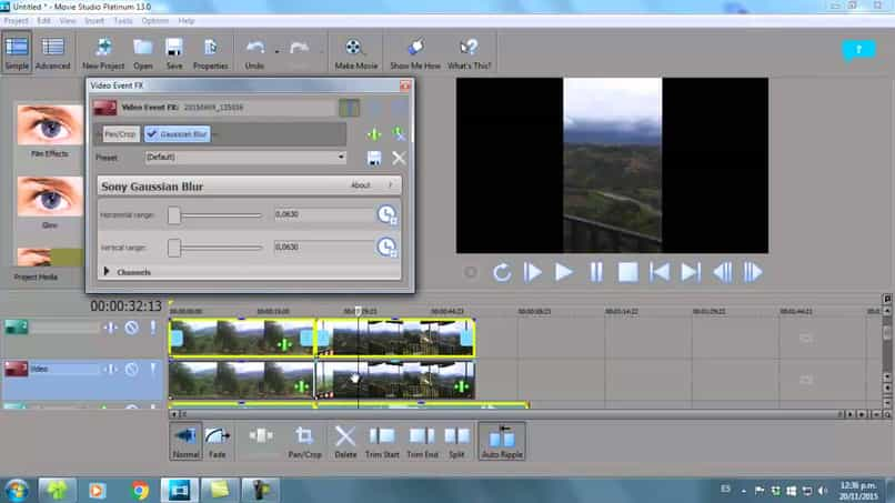 desenfocado fondo borroso sony vegas pro videos