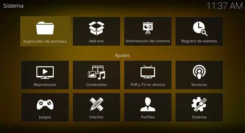 configuración para aumentar el audio en kodi