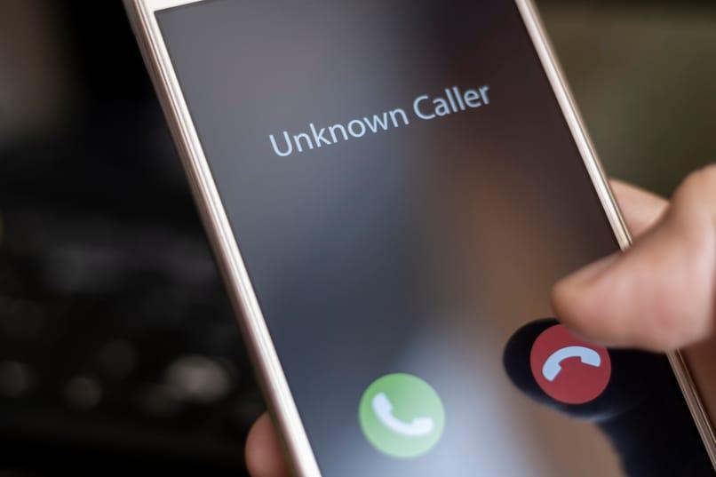 llamar al número privado
