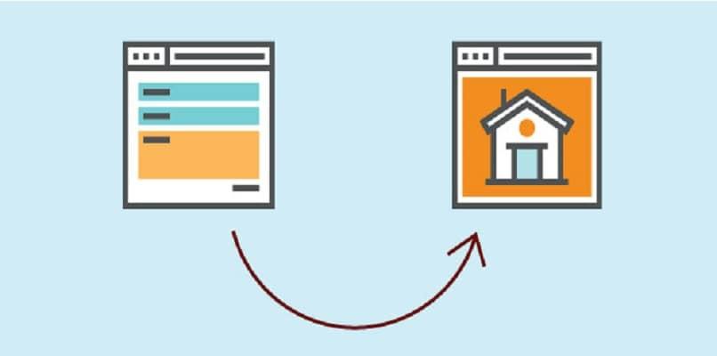 mostrando dos pantallas y redireccionamientos web