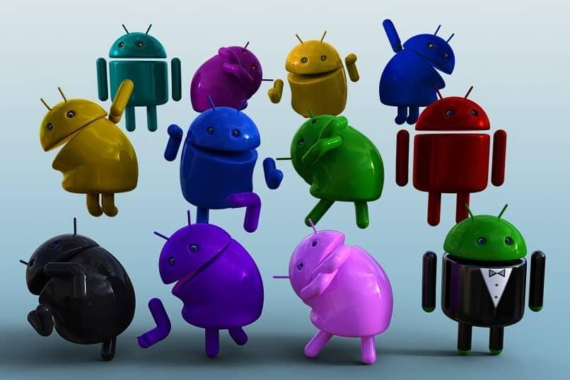 varios logotipos del sistema android