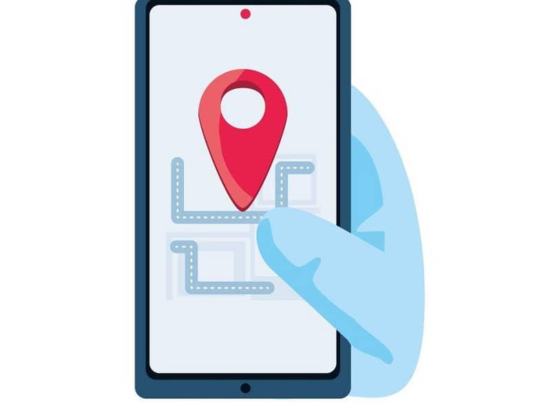 ubicar la ubicación en el teléfono inteligente