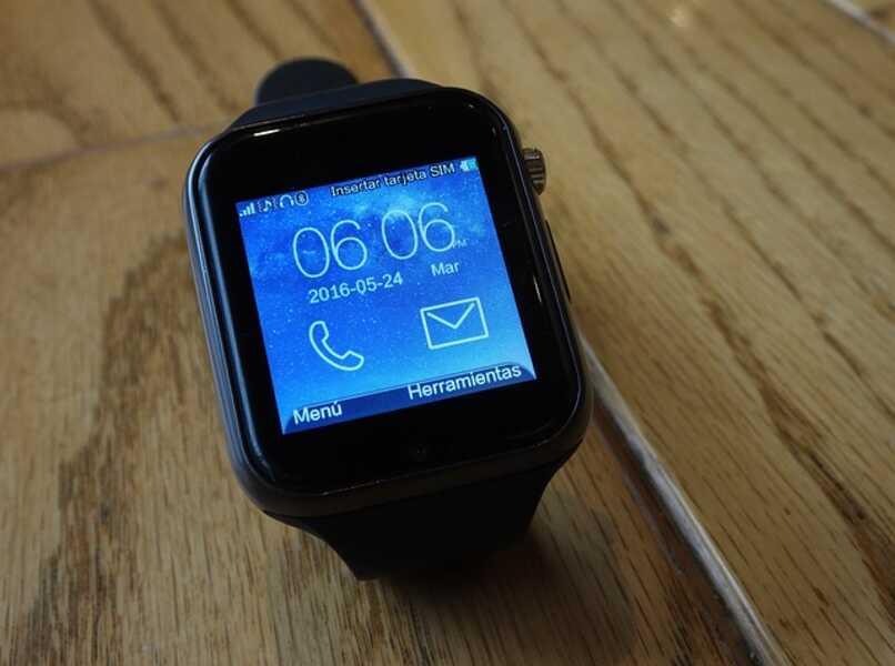 pantalla inicial al encender el reloj inteligente