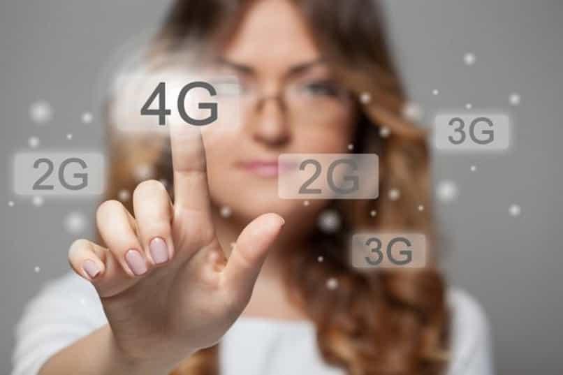 teléfono móvil inteligente con tecnología 4g en solo unos pocos pasos
