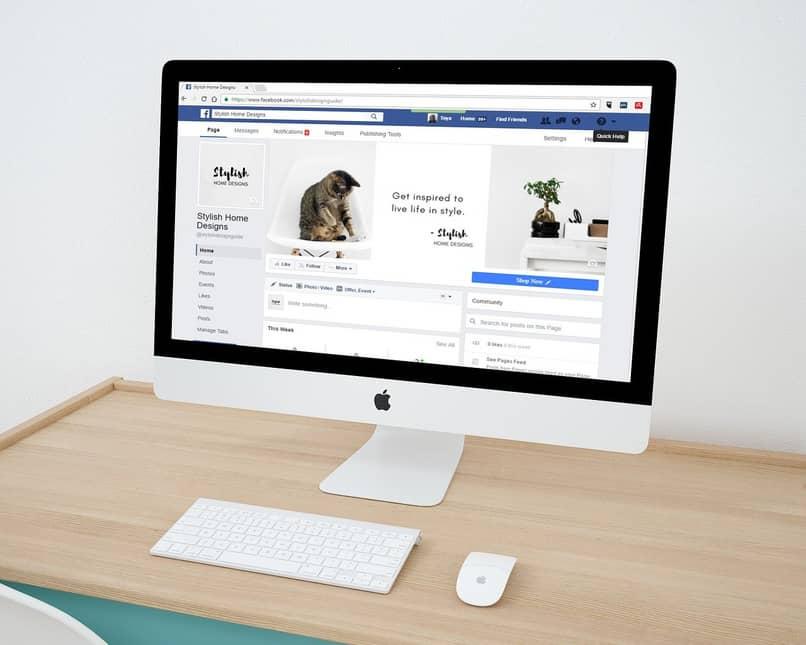 facebook en la computadora